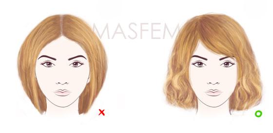 Грушевидное лицо причёски фото