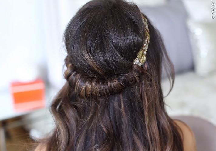 прически с ободком на длинные волосы фото