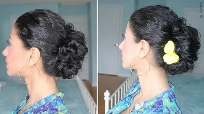 Как сделать прическу на кудрявые волосы средней длины видео