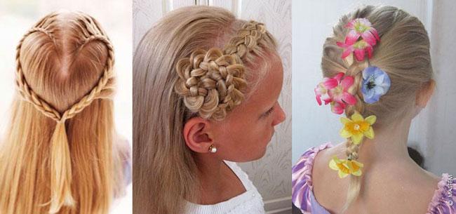 Детские прически с бантиками из волос