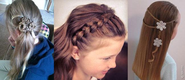 Прически на волосы по плечи для детей