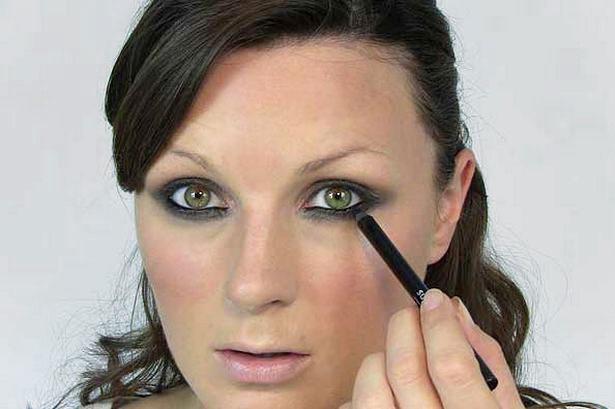 Mac макияж черные глаза