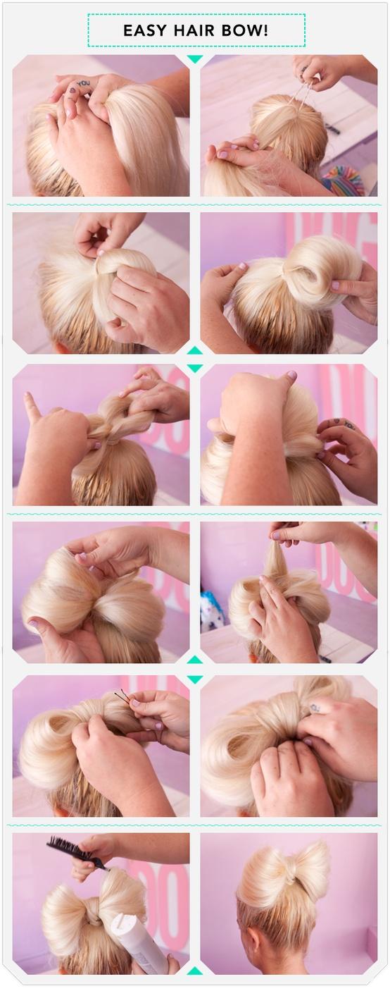 آموزش تصویری بستن مو به شکل پاپیون